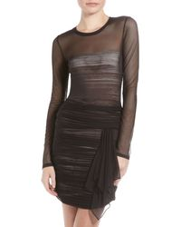 BCBGMAXAZRIA Tracey Mesh Dress black - Lyst