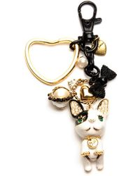 Betsey Johnson Bulldog Key Chain - Lyst