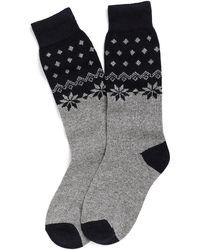 Brooks Brothers Snowflake Knee-High Socks blue - Lyst