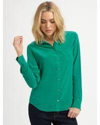 Equipment Brett Silk Shirt - Lyst