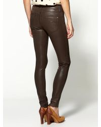 James Jeans Twiggy Slicked Super Skinny Jeans - Lyst
