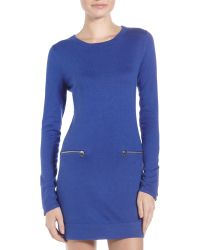 Michael by Michael Kors Zip-Pocket Sweater Dress - Lyst
