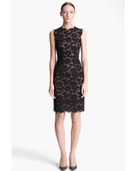 Valentino Lace Sheath Dress black - Lyst