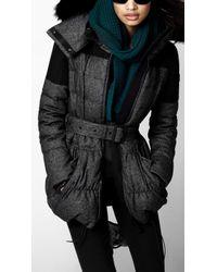 Burberry Sport - Woolblend Tweed Puffer - Lyst