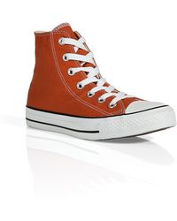 Converse Rust Canvas Chuck Taylor All Star Hi Sneakers - Lyst
