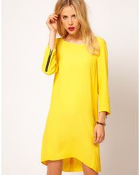 Mango Dress with Stepped Hem - Lyst