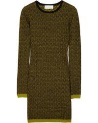A.L.C. Clea Wool Jacquard Sweater Dress - Lyst