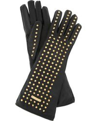 Burberry Prorsum - Studded Leather Gloves - Lyst