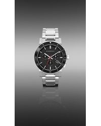 Burberry - 42mm Stainless Steel and Ceramic Chronograph - Lyst