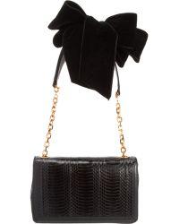 Christian Louboutin Artemis Velvet Bow Shoulder Bag - Lyst