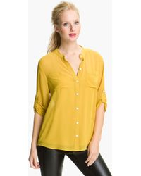 DKNY Banded Collar Shirt Camisole - Lyst