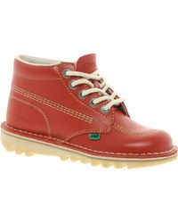 Kickers - Kick Hi Red Ankle Boots - Lyst