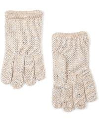 Mango - Sequins Knit Gloves - Lyst