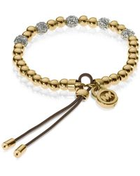 Michael Kors Bead Stretch Bracelet gold - Lyst