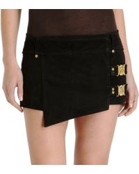 Balmain Wrap Mini Skirt - Lyst