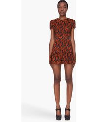 Opening Ceremony Rust Dropped Ruffle Dress - Lyst