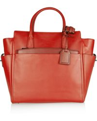 Reed Krakoff Atlantique Leather Tote red - Lyst