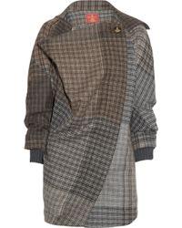 Vivienne Westwood Red Label - Draped Woolblend Tweed Coat - Lyst