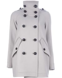 Burberry Brit - Double Breasted Coat - Lyst