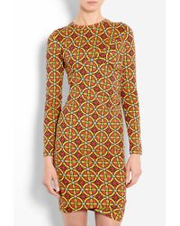 Carven Stained Glass Print Twisted Jersey Dress - Lyst