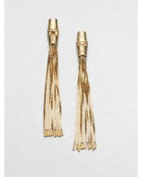 Gucci Bamboo 18K Yellow Gold Tassel Earrings gold - Lyst