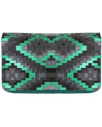 Matthew Williamson Ikat Fully Beaded Clutch - Lyst