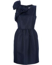 RED Valentino Bow Detail Dress blue - Lyst