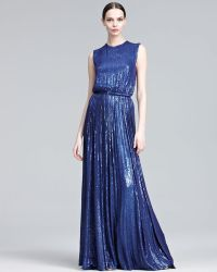 Elie Saab Minisequined Gown - Lyst