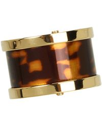 Michael Kors Heritage Barrel Ring - Lyst