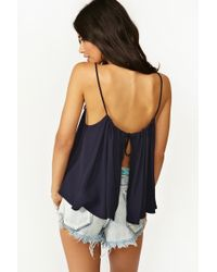 Nasty Gal Mosaic Top Navy blue - Lyst