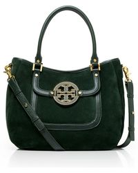Tory Burch Suede and Leather Amanda Hobo - Lyst