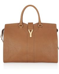 Saint Laurent Cabas Chyc Large Leather Tote - Lyst
