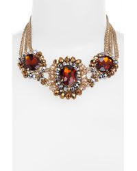 Cara Accessories Cara Multi Stone Statement Necklace multicolor - Lyst