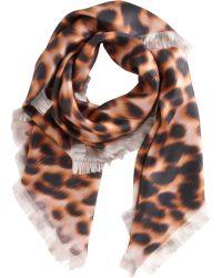 David Szeto - Ikat Leopard Print Square Scarf - Lyst