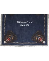 Givenchy - Rottweiler Cornerprint Square Scarf - Lyst