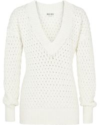 Reiss Textured Vneck Jumper - Lyst