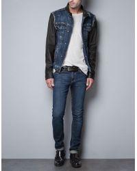 Zara Velveteen Three Quarter Length Coat - Lyst