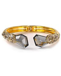Alexis - Bittar Bel Air Gold Large Druzy Two Stone Hinge Bracelet - Lyst