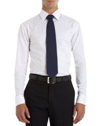 Armani Graph Check Dress Shirt - Lyst