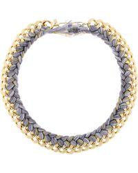 Aurelie Bidermann Do Brazil Necklace in Golden Metal and Braided Cotton Threads - Lyst