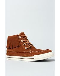 Converse The Chuck Taylor All Star Moccasin Fringe Boot in Monks Robe Suede - Lyst