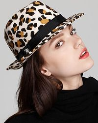 Juicy Couture Leopard Cropped Fedora - Lyst