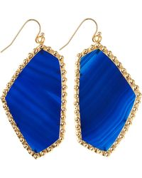 Kendra Scott Hutton Large Stone Earrings  - Lyst