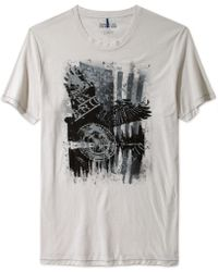 Kenneth Cole Reaction Short Sleeve Eagle Crew Neck T Shirt - Lyst