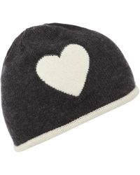 Boutique Moschino - Heart Knitted Hat - Lyst