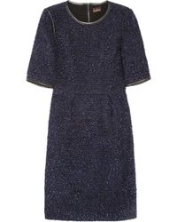 Mulberry Bouclé and Stretchcrepe Dress - Lyst