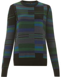 Proenza Schouler Green Striped Jumper - Lyst