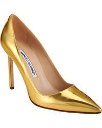 Manolo Blahnik Specchio Bb Pumps gold - Lyst