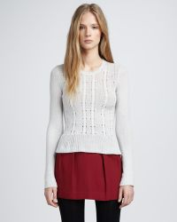Theory Pleated Wool Skirt - Lyst