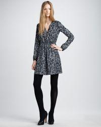 Theory Printed Silk Dress - Lyst